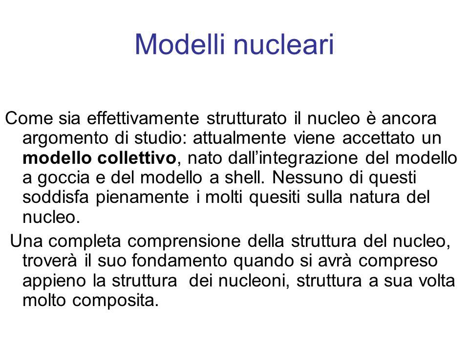 Modelli nucleari