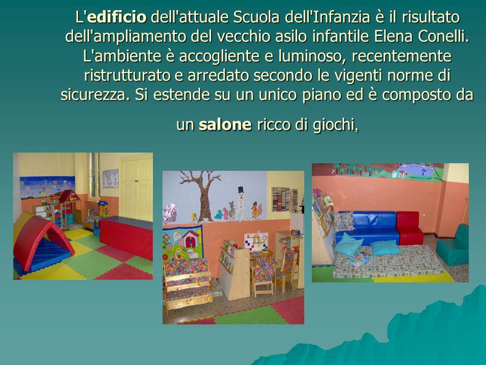 L edificio dell attuale Scuola dell Infanzia è il risultato dell ampliamento del vecchio asilo infantile Elena Conelli.