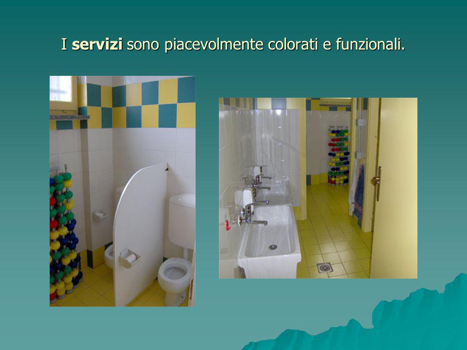 I servizi sono piacevolmente colorati e funzionali.