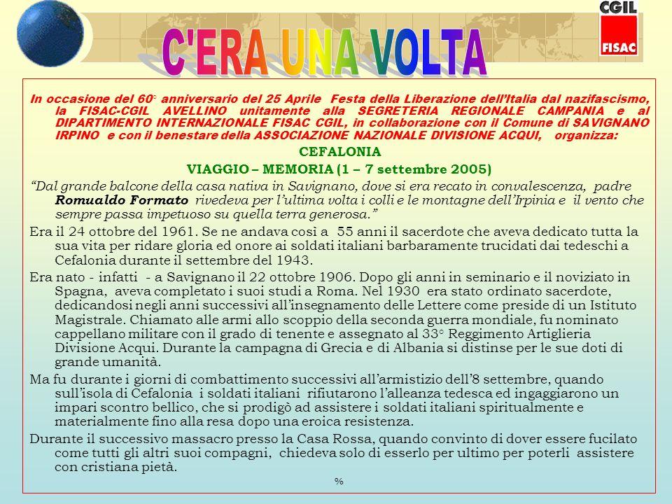 VIAGGIO – MEMORIA (1 – 7 settembre 2005)