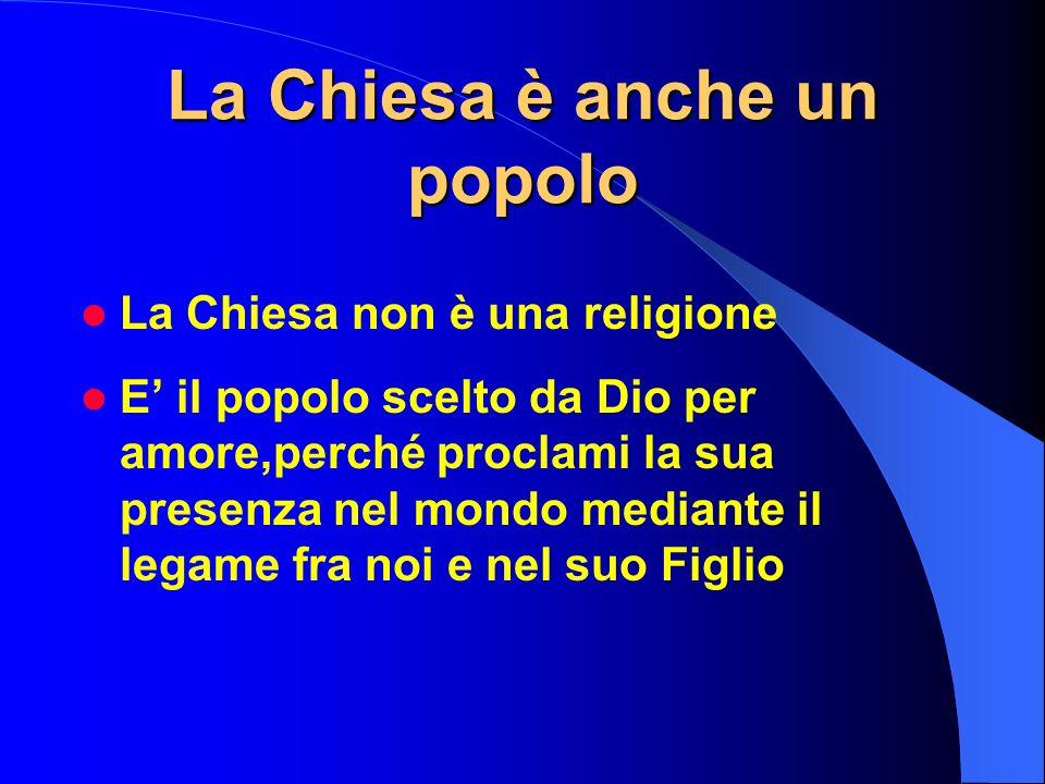 La Chiesa è anche un popolo