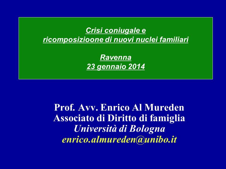 Prof. Avv. Enrico Al Mureden Associato di Diritto di famiglia