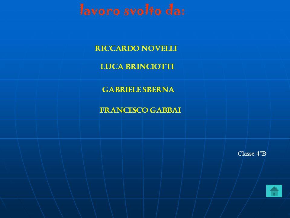 lavoro svolto da: Riccardo novelli Luca brinciotti Gabriele sberna