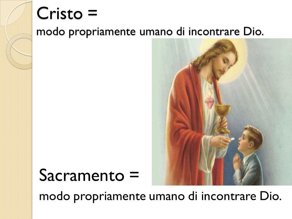 Cristo = modo propriamente umano di incontrare Dio.