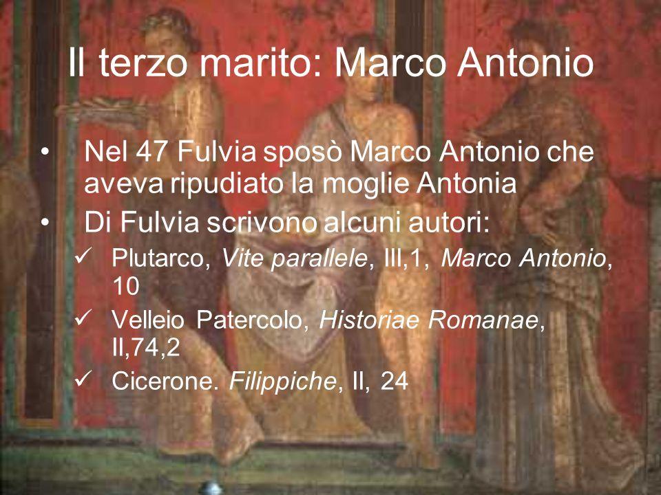 Il terzo marito: Marco Antonio