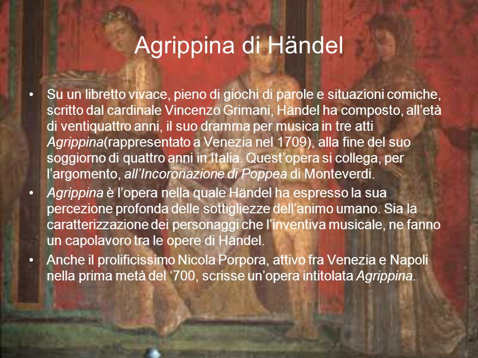 Agrippina di Händel