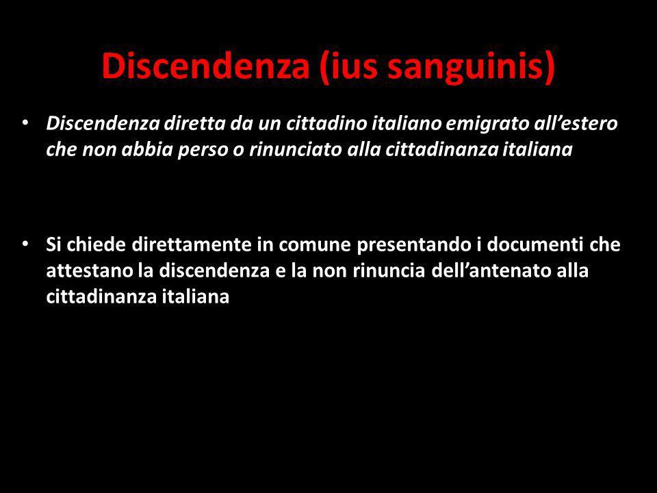 Discendenza (ius sanguinis)