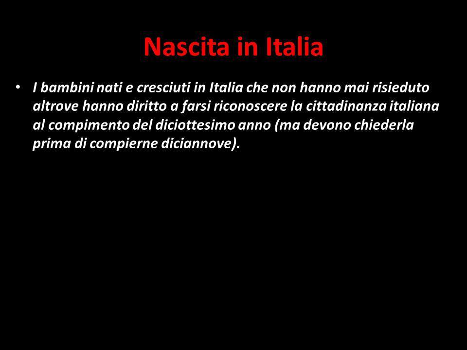 Nascita in Italia