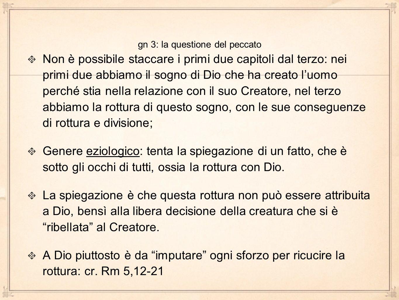 gn 3: la questione del peccato