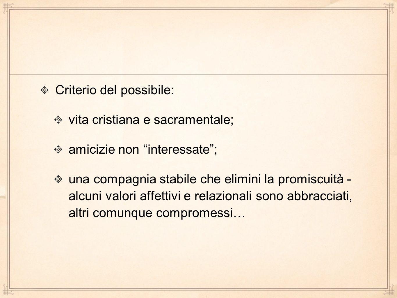 Criterio del possibile: