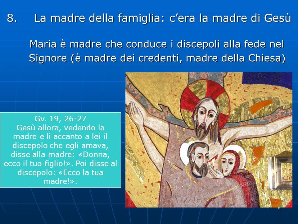 La madre della famiglia: c'era la madre di Gesù
