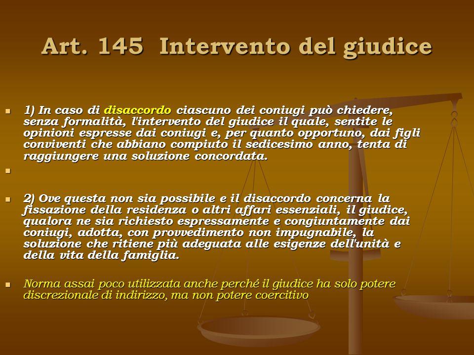 Art. 145 Intervento del giudice