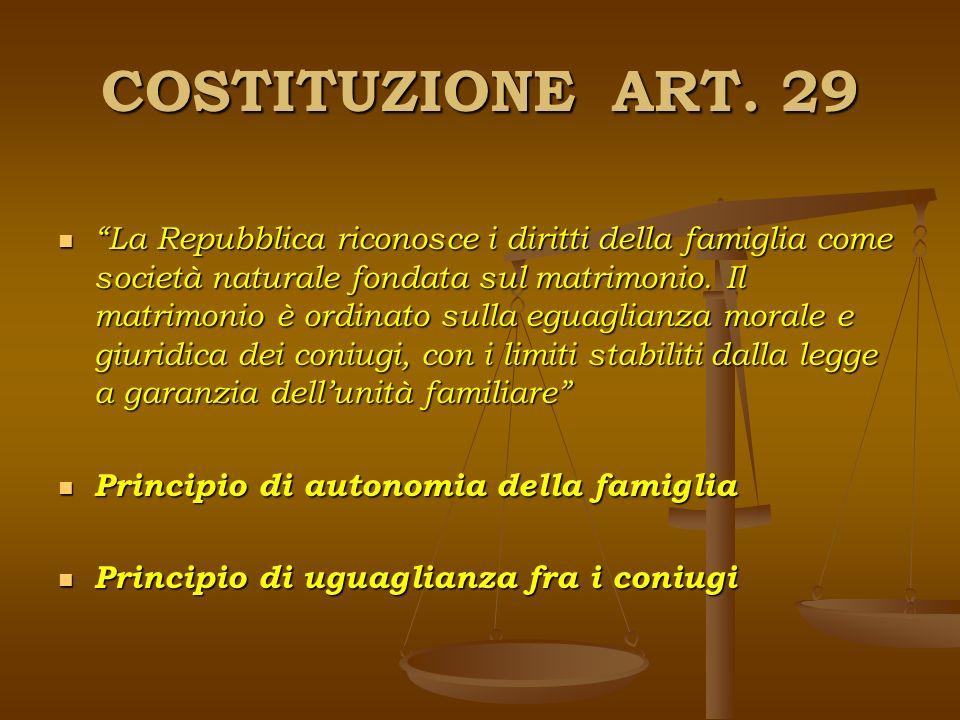 COSTITUZIONE ART. 29