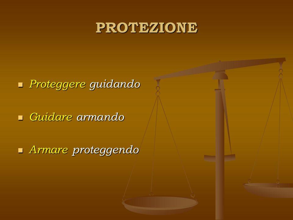 PROTEZIONE Proteggere guidando Guidare armando Armare proteggendo
