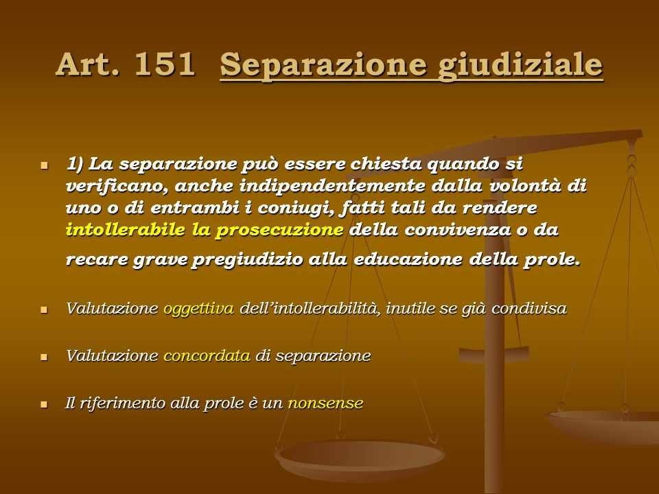 Art. 151 Separazione giudiziale