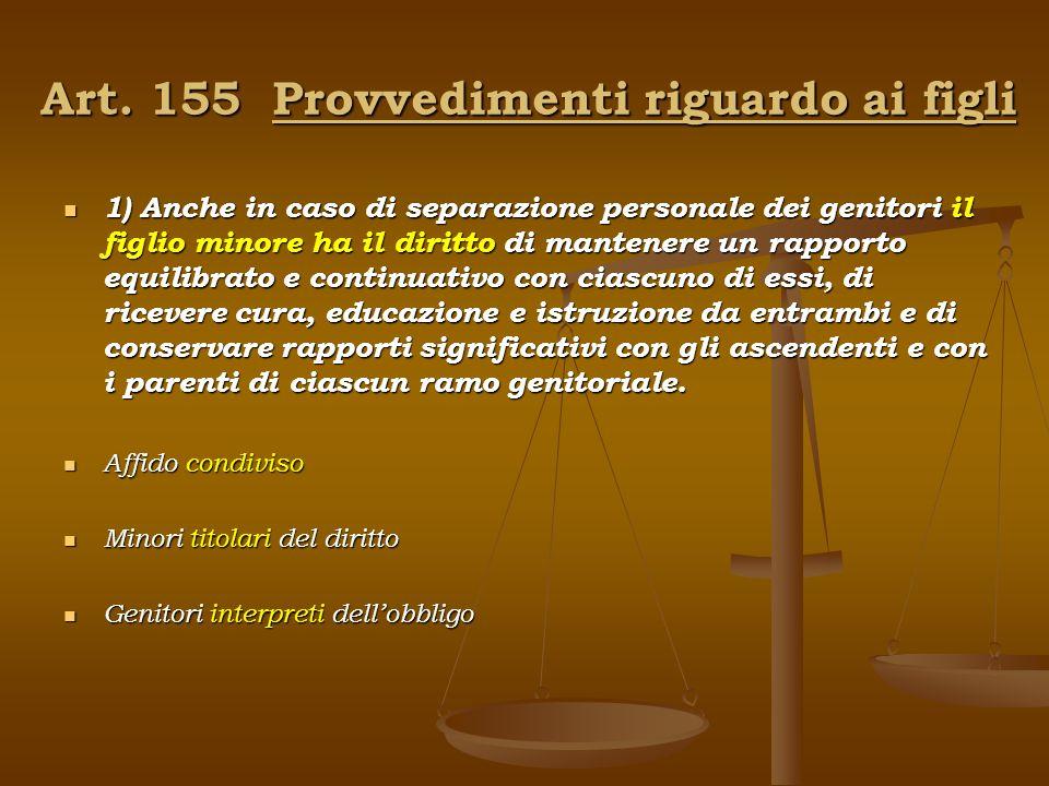 Art. 155 Provvedimenti riguardo ai figli
