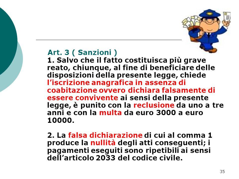 Art. 3 ( Sanzioni ) 1.