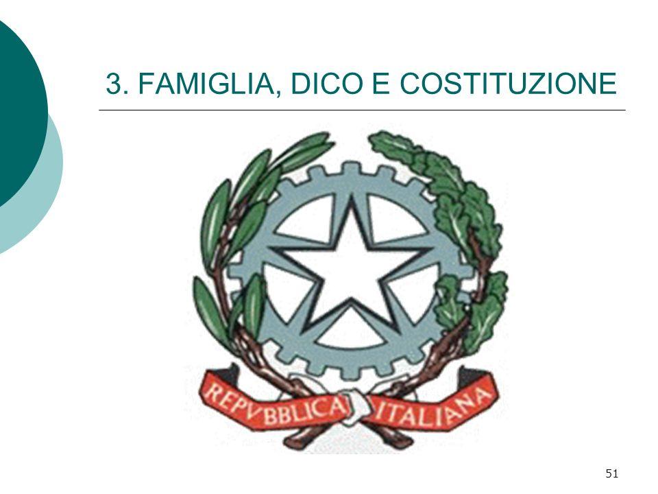 3. FAMIGLIA, DICO E COSTITUZIONE