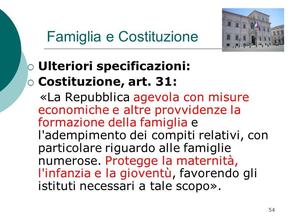 Famiglia e Costituzione