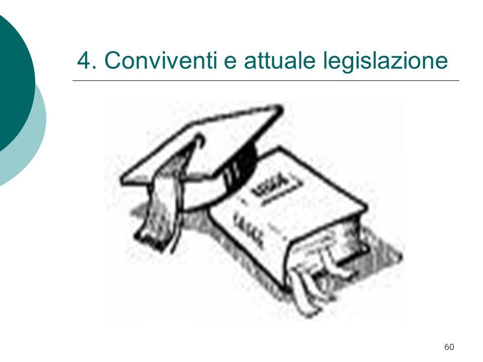 4. Conviventi e attuale legislazione