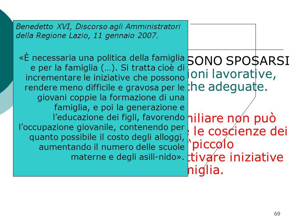 Benedetto XVI, Discorso agli Amministratori della Regione Lazio, 11 gennaio 2007.