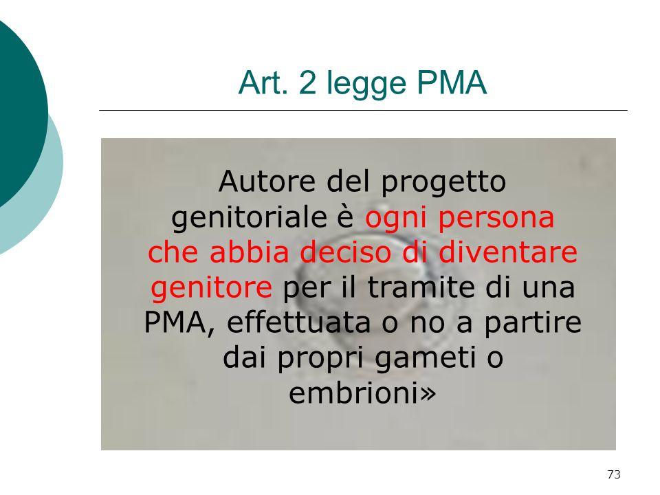 Art. 2 legge PMA