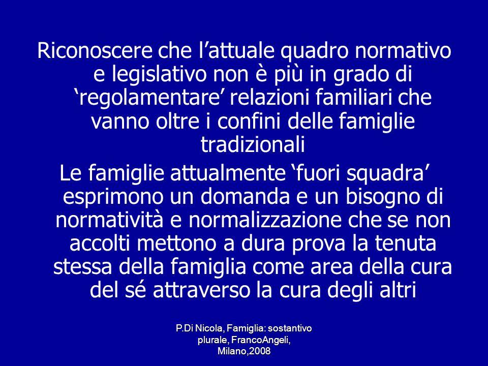 P.Di Nicola, Famiglia: sostantivo plurale, FrancoAngeli, Milano,2008