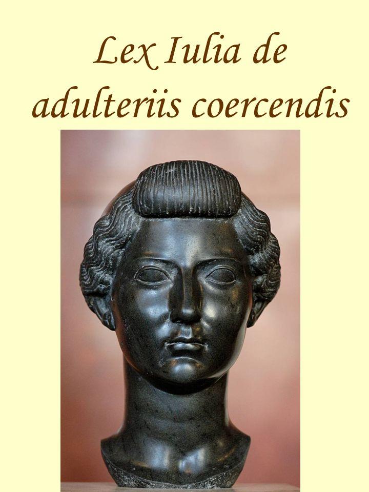 Lex Iulia de adulteriis coercendis