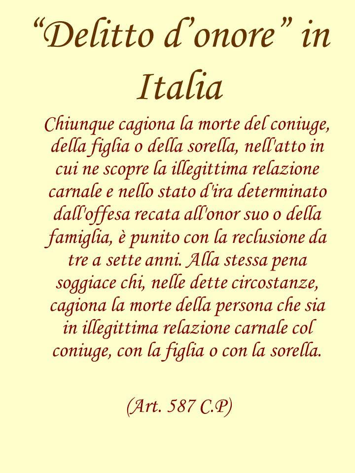 Delitto d'onore in Italia