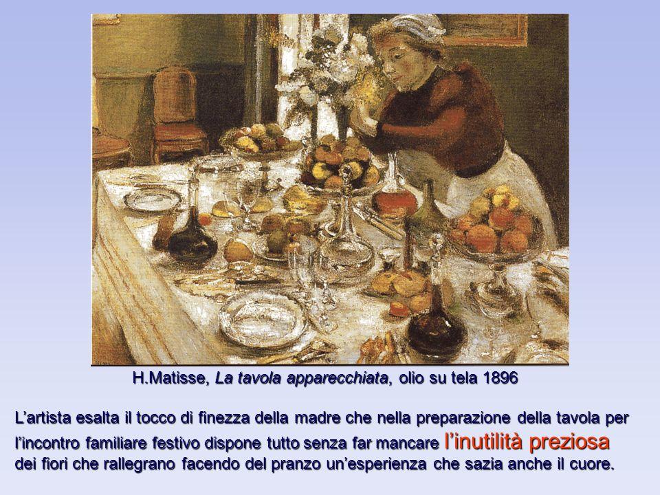 H.Matisse, La tavola apparecchiata, olio su tela 1896