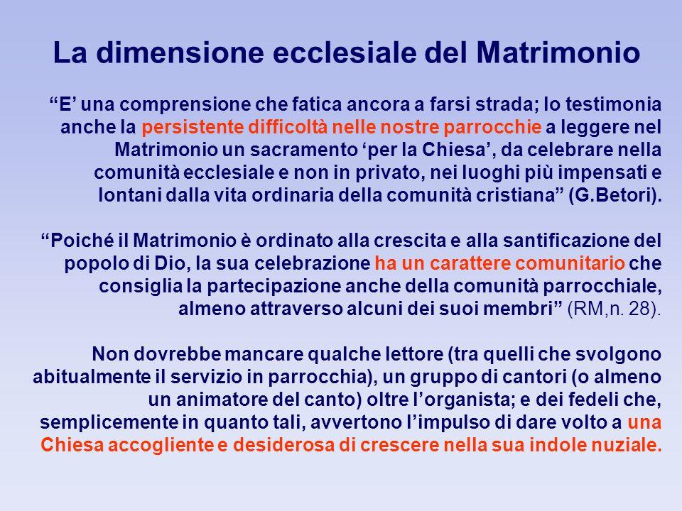 La dimensione ecclesiale del Matrimonio