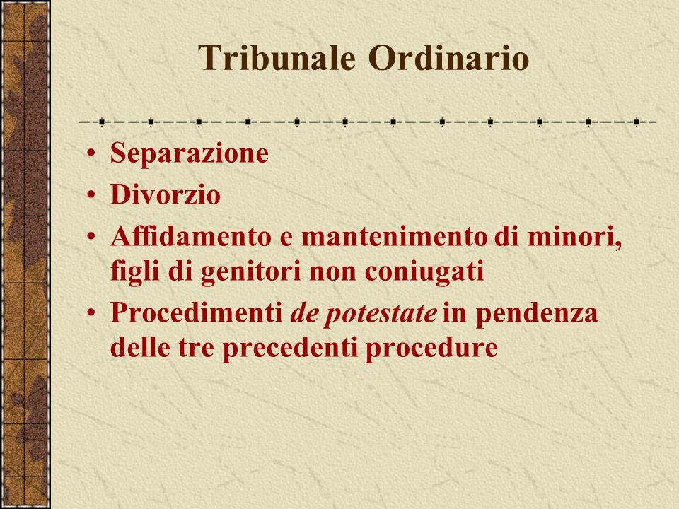 Tribunale Ordinario Separazione Divorzio