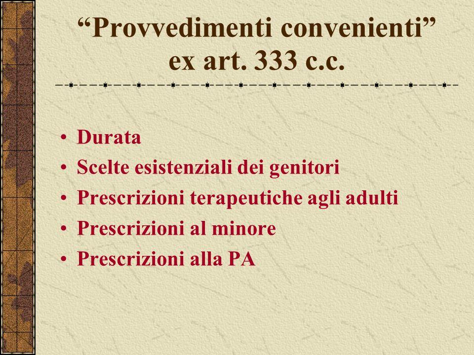 Provvedimenti convenienti ex art. 333 c.c.