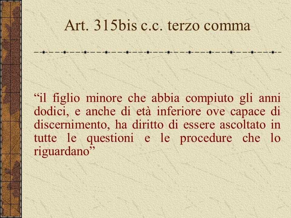 Art. 315bis c.c. terzo comma