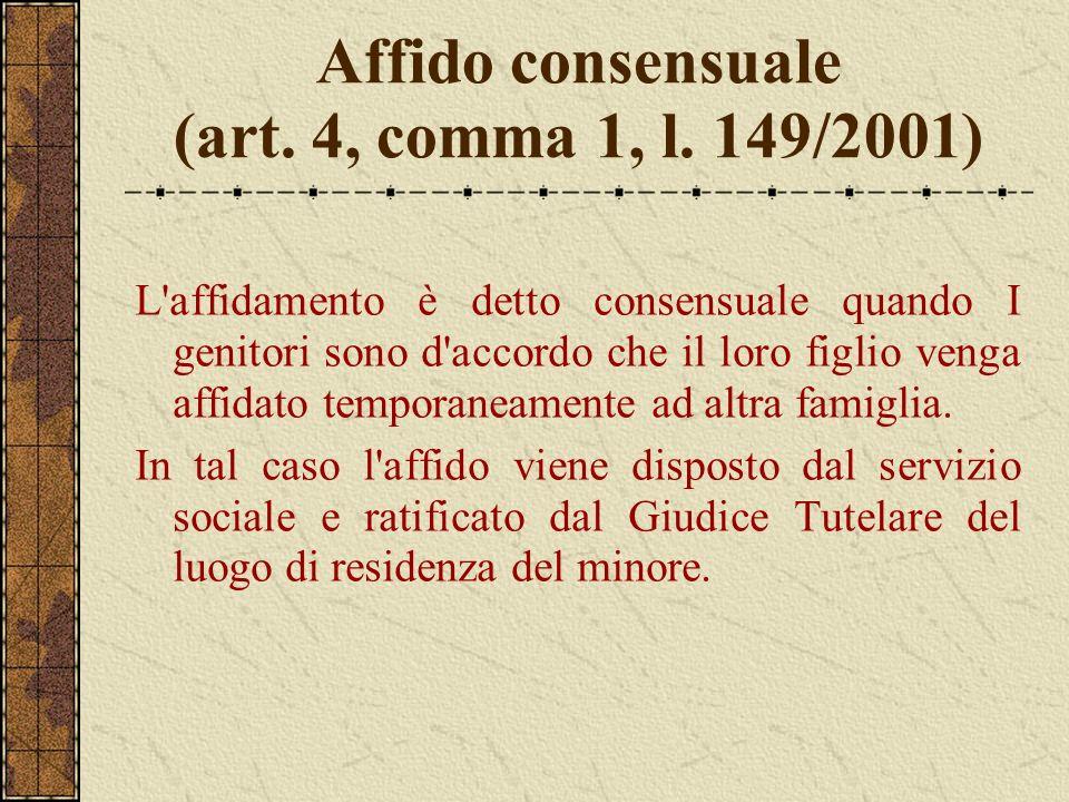 Affido consensuale (art. 4, comma 1, l. 149/2001)
