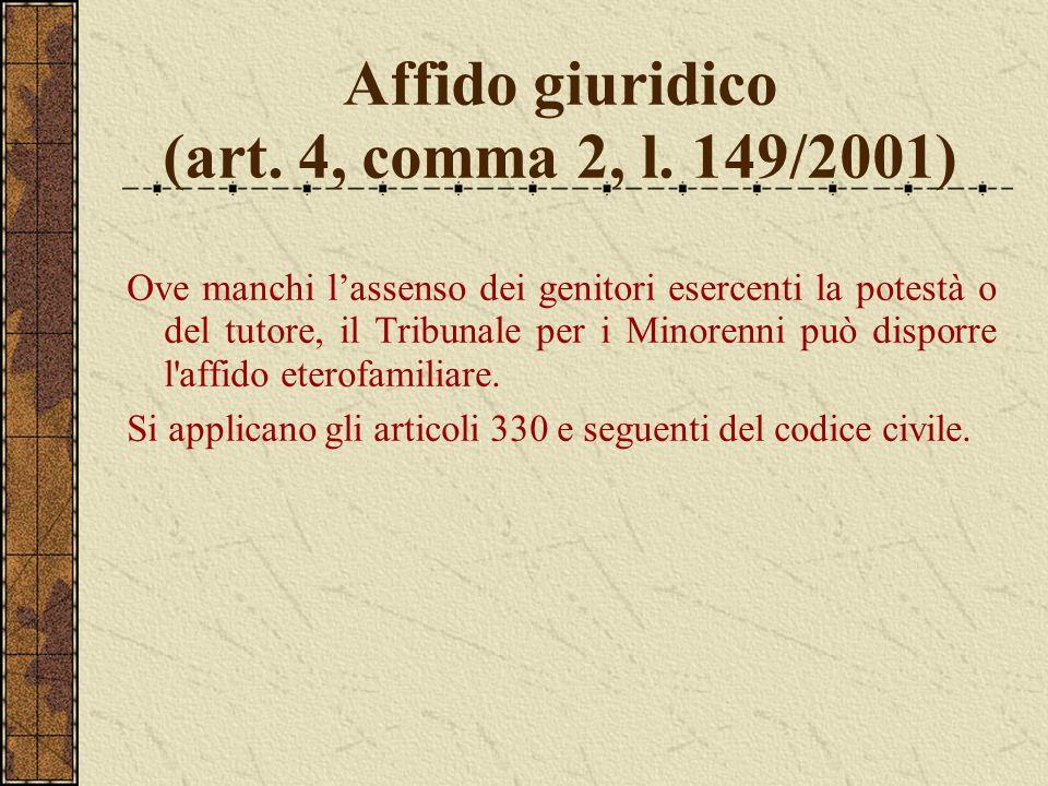 Affido giuridico (art. 4, comma 2, l. 149/2001)