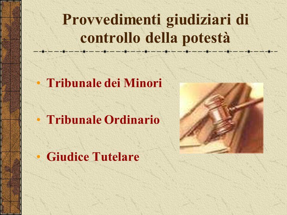 Provvedimenti giudiziari di controllo della potestà