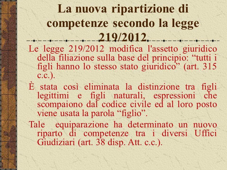La nuova ripartizione di competenze secondo la legge 219/2012