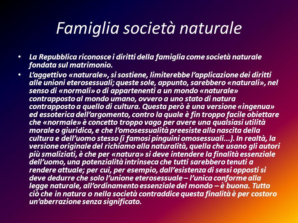 Famiglia società naturale