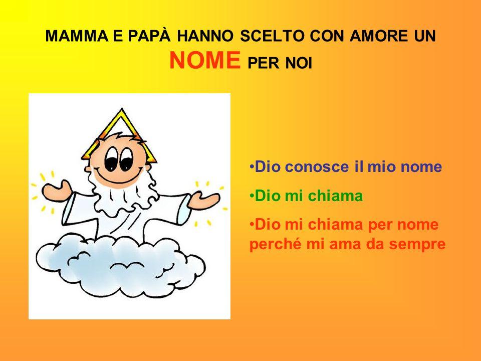 MAMMA E PAPÀ HANNO SCELTO CON AMORE UN NOME PER NOI