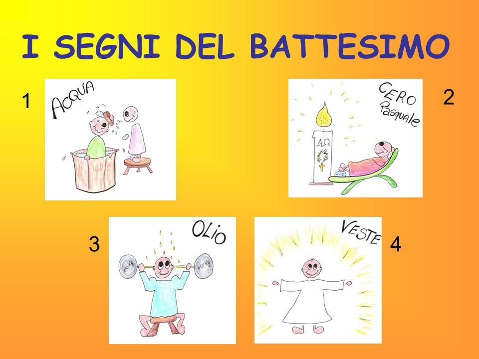 I SEGNI DEL BATTESIMO 2 1 3 4