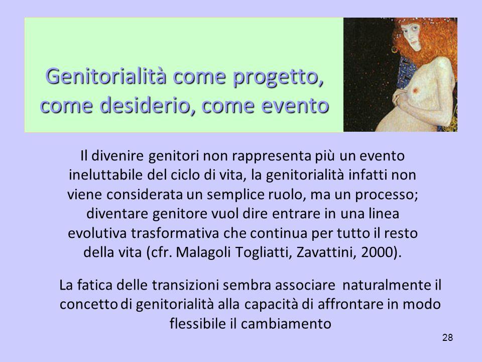Genitorialità come progetto, come desiderio, come evento