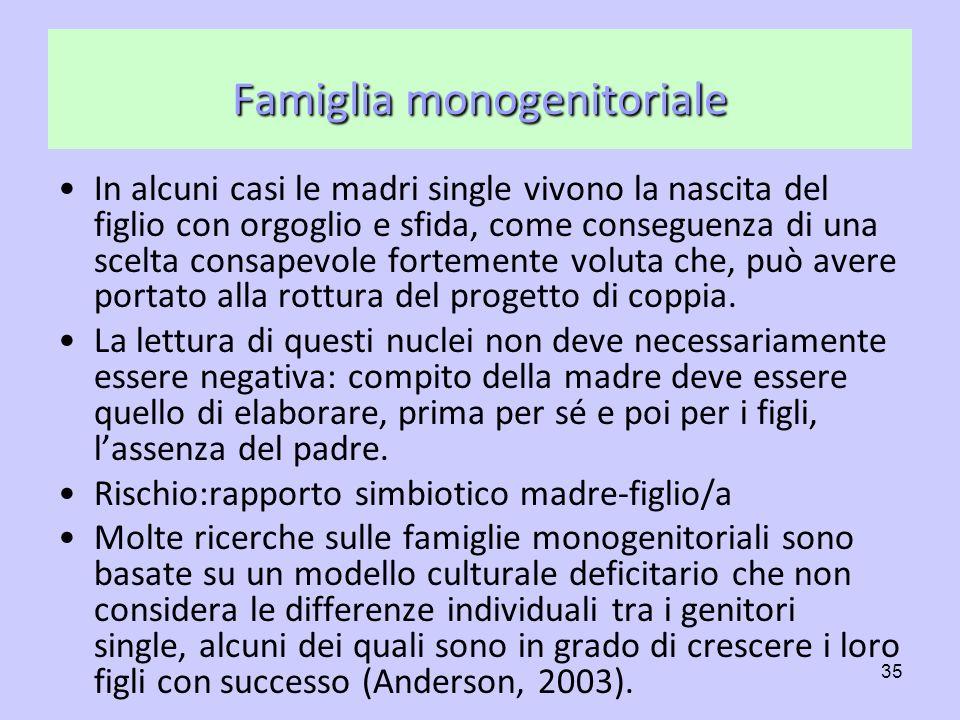 Famiglia monogenitoriale