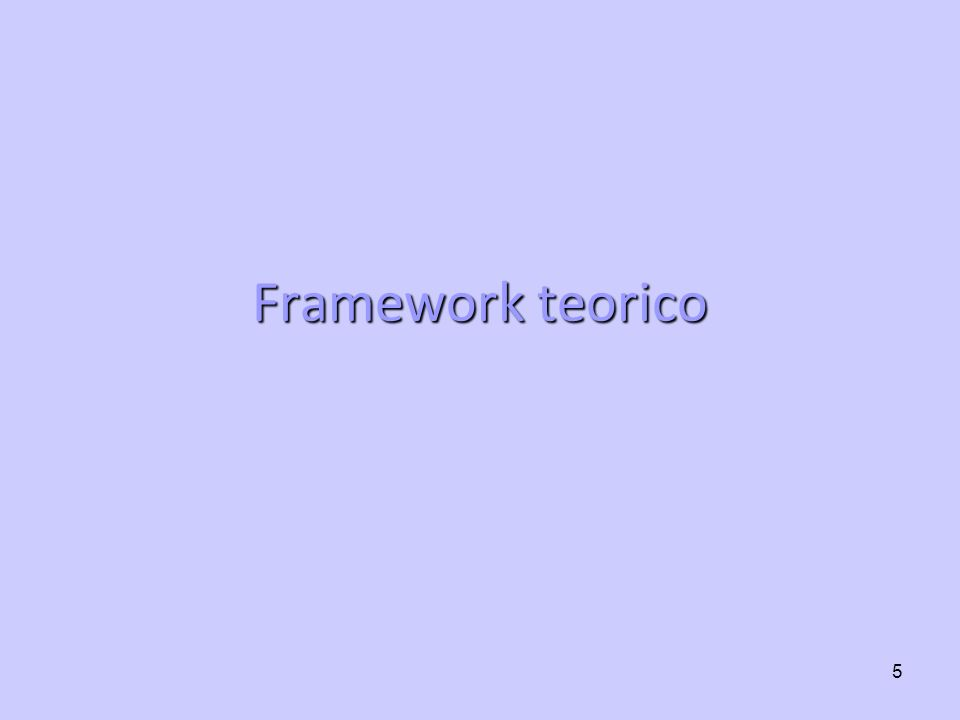 Framework teorico