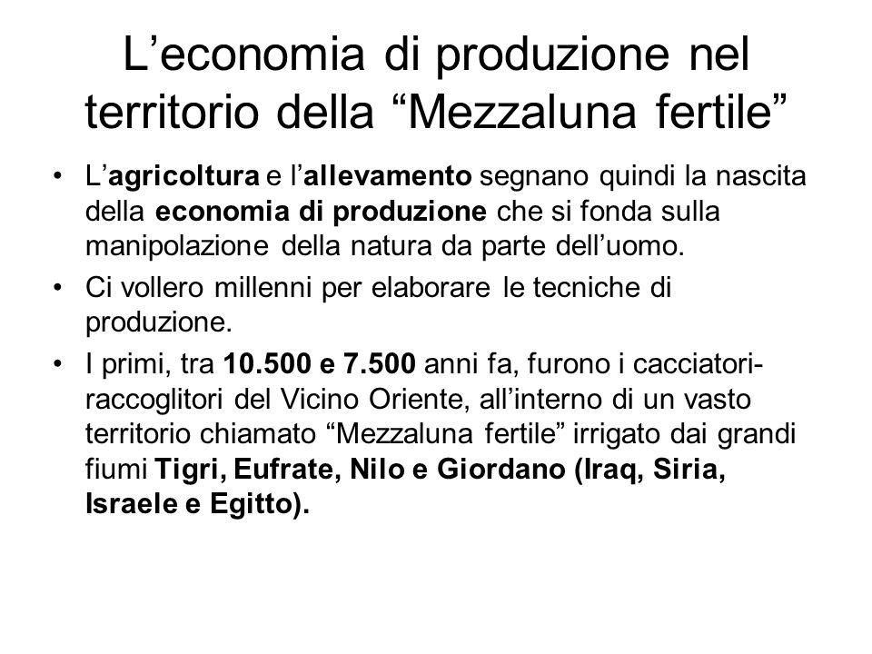L'economia di produzione nel territorio della Mezzaluna fertile