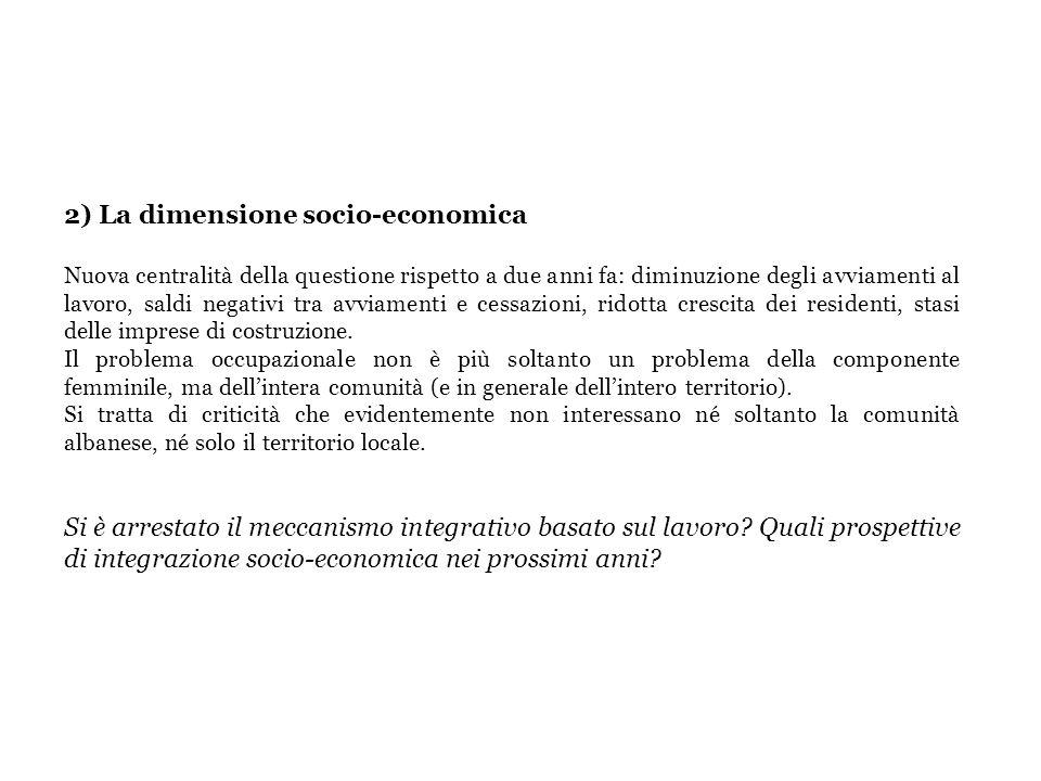 2) La dimensione socio-economica