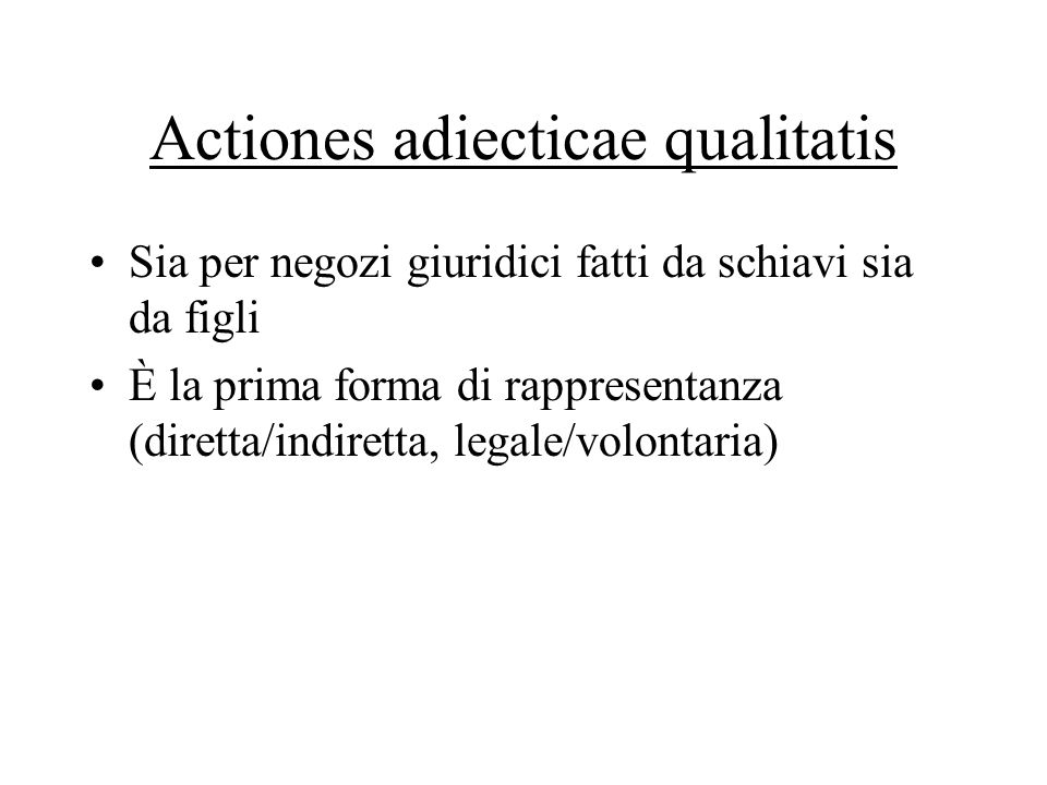 Actiones adiecticae qualitatis