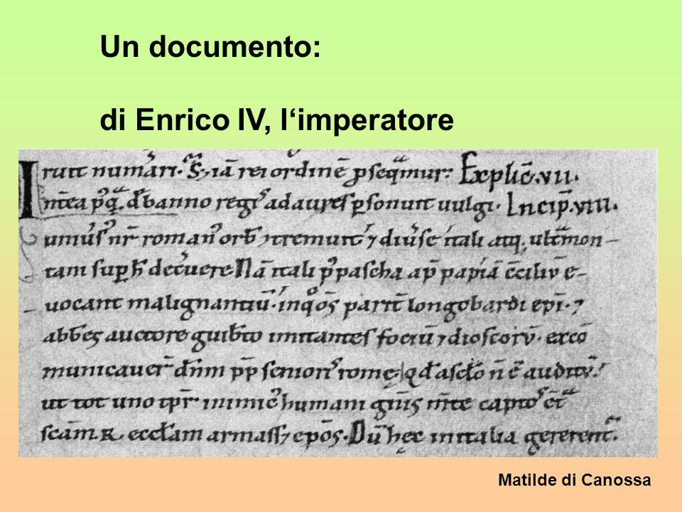 Un documento: di Enrico IV, l'imperatore