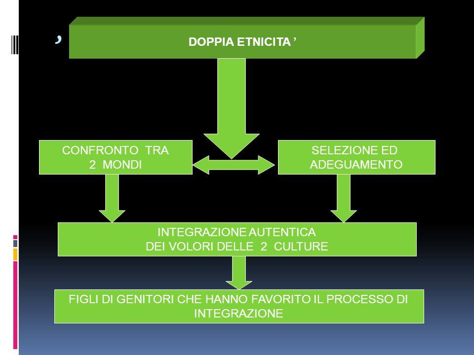 ' DOPPIA ETNICITA ' CONFRONTO TRA 2 MONDI SELEZIONE ED ADEGUAMENTO