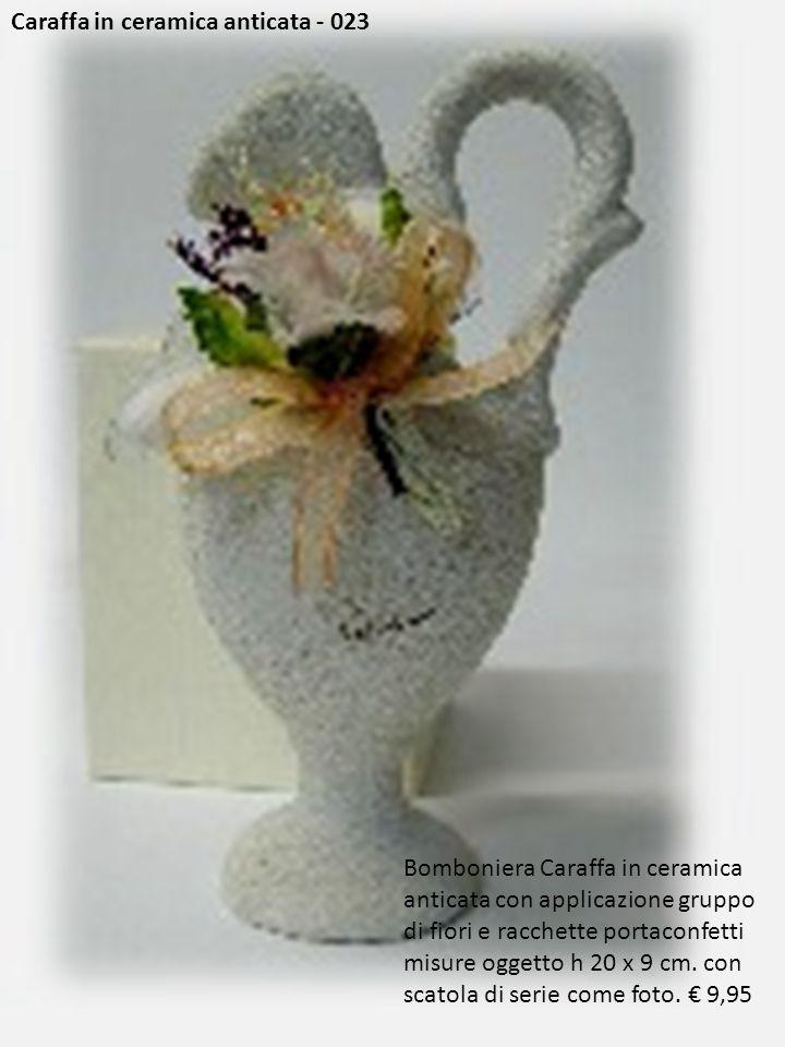 Caraffa in ceramica anticata - 023